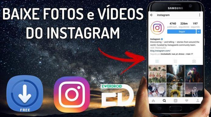 como baixar fotos do instagram no celular