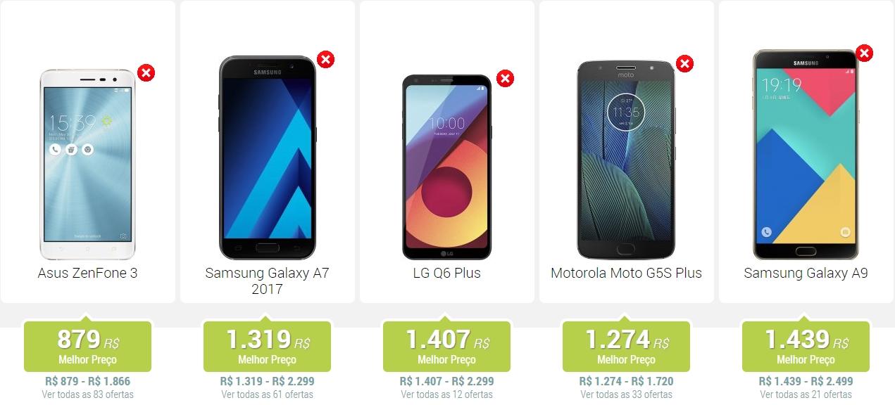 melhores smartphones até 1500 reais