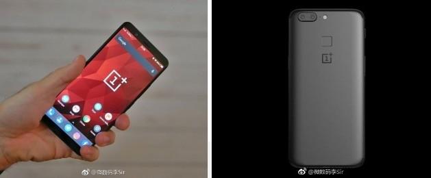 Nova Imagem da Parte Superior do OnePlus 5T