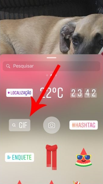 como usar gifs no instagram stories