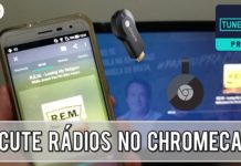 como escutar rádio pelo chromecast