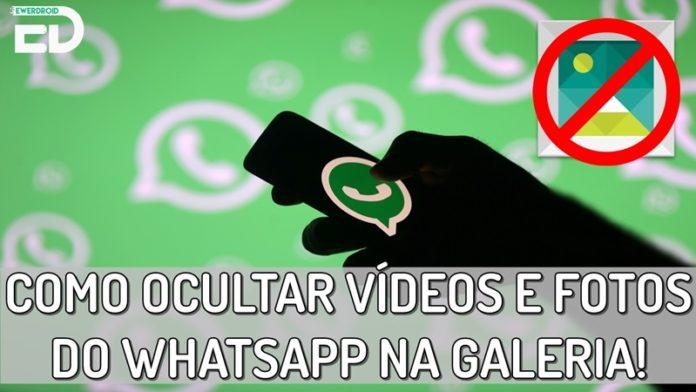 como não salvar fotos e videos do whatsapp na galeria