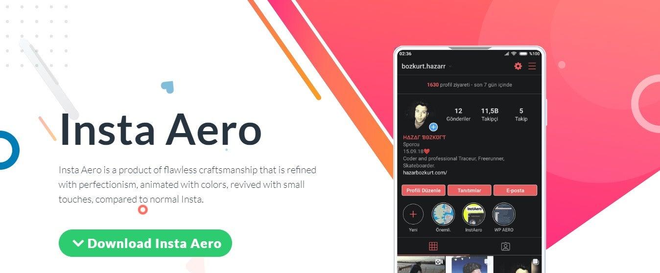 Instagram Aero ATUALIZADO